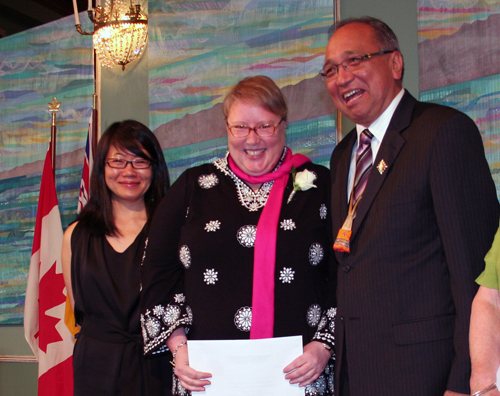 Accepting Ethel Wilson Fiction Prize at the 2010 BC Book Prizes Gala